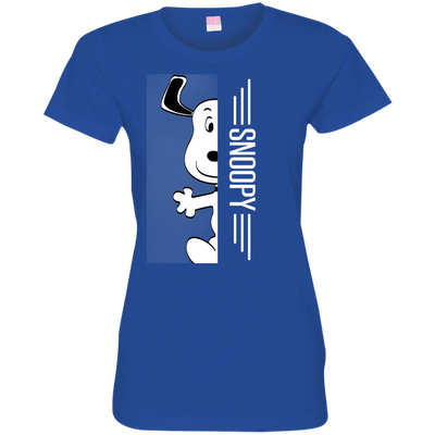 Snoopy  Half-Face Tshirt 3516 LAT Ladies' Fine Jersey T-Shirt