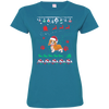 Cavalier Christmas T-shirts 3516 LAT Ladies' Fine Jersey T-Shirt
