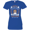 Happy American Staffordshire Terrier 3516 LAT Ladies' Fine Jersey T-Shirt