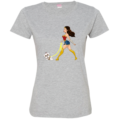 wonder woman &  havanese1 3516 LAT Ladies' Fine Jersey T-Shirt