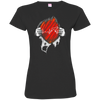 Doberman Hearbeat Tshirt 3516 LAT Ladies' Fine Jersey T-Shirt