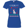 Bull Terrier Christmas T-shirts 3516 LAT Ladies' Fine Jersey T-Shirt