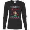 Beagle Christmas T-shirts G540L Gildan Ladies' Cotton LS T-Shirt