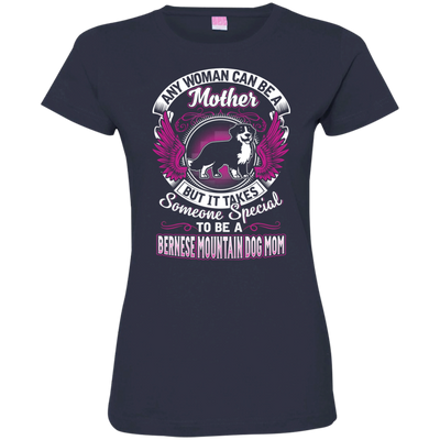 Bernese Mountain Dog Mom Tshirt 3516 LAT Ladies' Fine Jersey T-Shirt