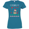 Bullmastiff  Christmas T-shirts 3516 LAT Ladies' Fine Jersey T-Shirt