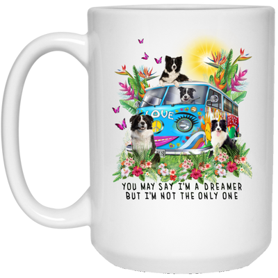 Border Collie I'm A Dreamer White Mug