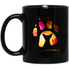Footprint Of Oriental Shorthair  Cat Black Mug