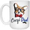 Corgi Dad White Mug