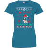 Border Collie Christmas T-shirts 3516 LAT Ladies' Fine Jersey T-Shirt