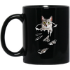Egyptian Cat Black Mug