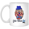 Golden retriever dad White mug