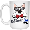 Bull Terrier Dad White Mug