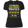 jack russell-stubborn-mug-5-9 NL3900 Next Level Ladies' Boyfriend T-Shirt
