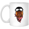Bullmastiff Wear Helmet White Mug
