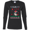 Border Collie Christmas T-shirts G540L Gildan Ladies' Cotton LS T-Shirt