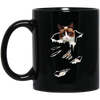 Snowshoe Cat Black Mug