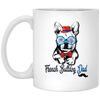 French bulldog DAD French bulldog white mug