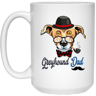 Greyhound dad White mug