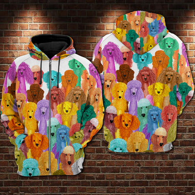 Poodle Multi Hoodie Raglan Zip up PM-DS003 8M