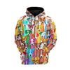 Jack Russell Multi Hoodie Raglan Zip up PM-DS003 8M