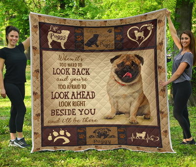 Pug Quilt life is dog PT-DS001