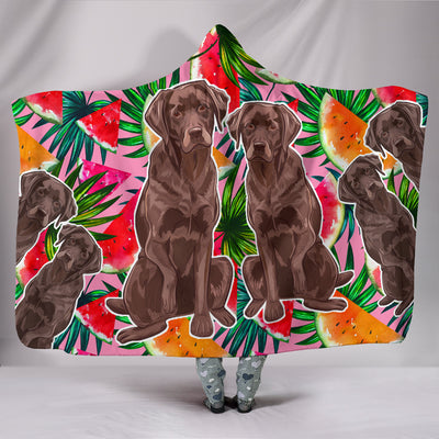 Ottedesign greyhound hooded blanket, colorful
