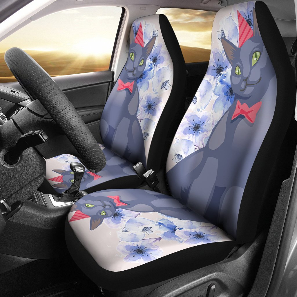 Russian Blue Car Seat Covers 0603NTP