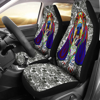 Basset Hound Car Seat Covers Ja18VA