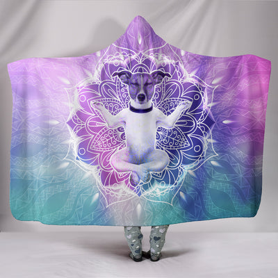Ottedesign jack russell hooded blanket, yoga pattern
