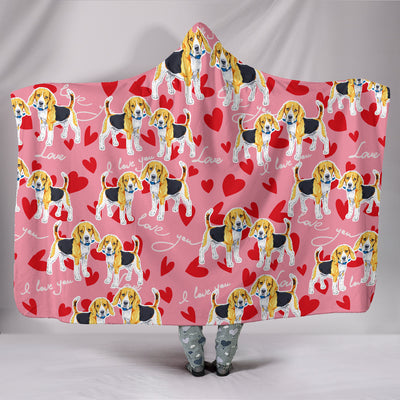 Ottedesign boxer hooded blanket, heart