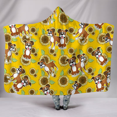 Ottedesign bulldog hooded blanket, sunflower