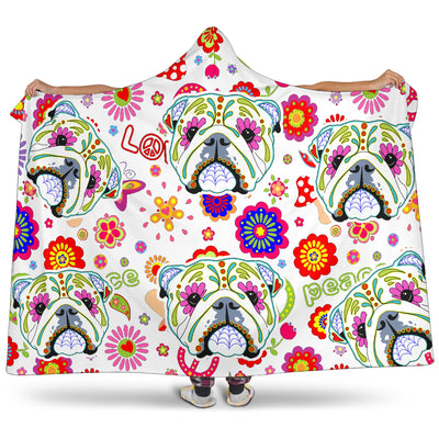 Ottedesign bulldog hooded blanket, pattern