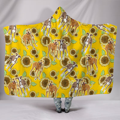 Ottedesign greyhound hooded blanket, sunflower