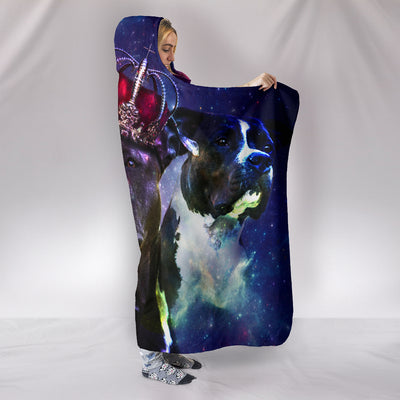 Ottedesign pitbull hooded blanket, galaxy