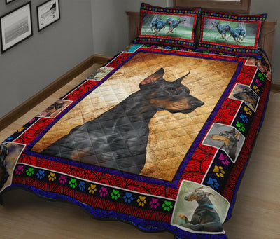 Ottedesign Doberman Quilt Bed Set - U040619