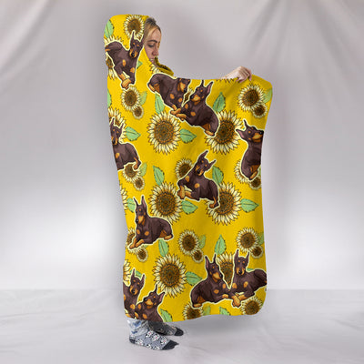 Ottedesign frenchie hooded blanket, sunflower