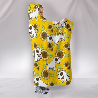 Ottedesign bull terrier hooded blanket, sunflower