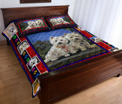 Ottedesign Westie Quilt Bed Set - U050619