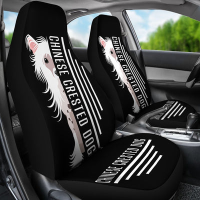 Chinese Crested Car Seat Covers Ja24PM