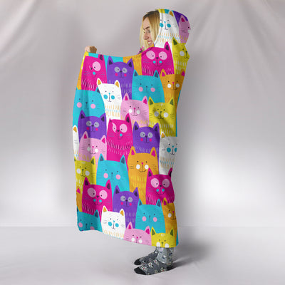 Ottedesign cat hooded blanket, multi