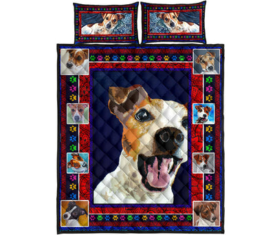 Ottedesign Jack Russell Quilt Bed Set - U040619