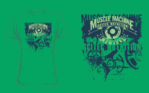 Scitec Nutrition T-Shirt Muscle Machine Green