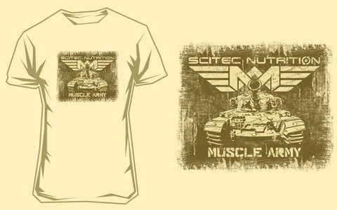 T-Shirt Muscle Army Tank