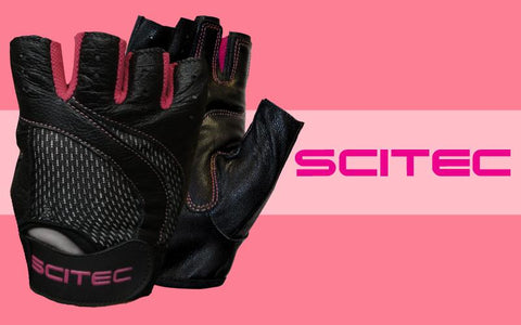 Scitec Nutrition Training Gloves Pink Style