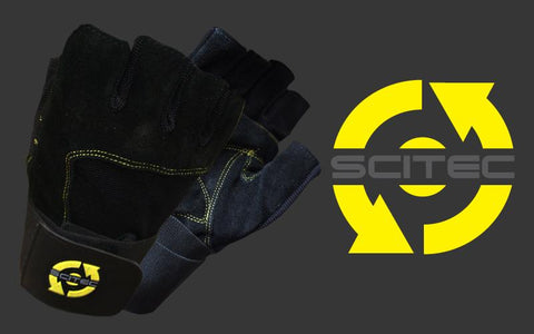 Scitec Nutrition Training Gloves Yellow Style