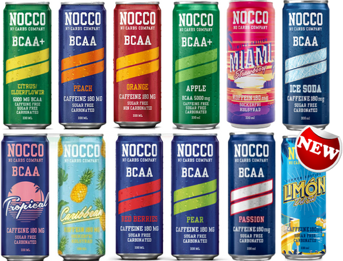 Nocco BCAA Drink Sugar Free  12 and 24 packs