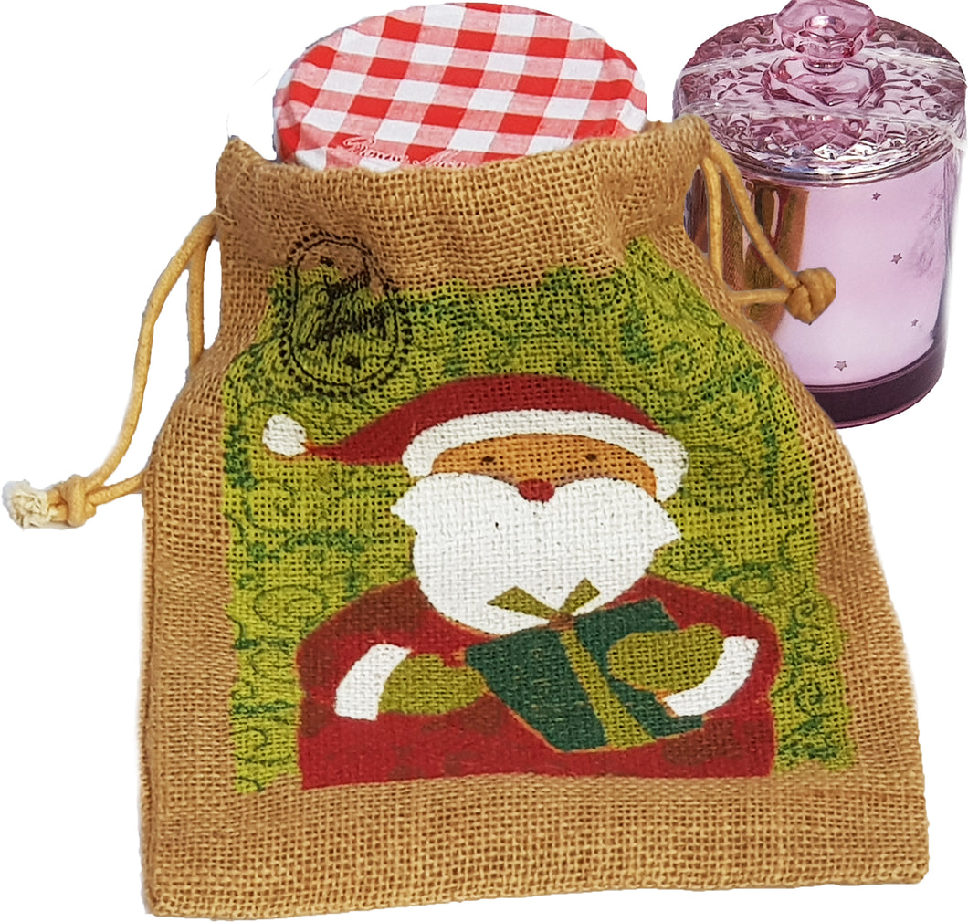 Premium Jute Christmas Themed String Sacks (5 Pack+)