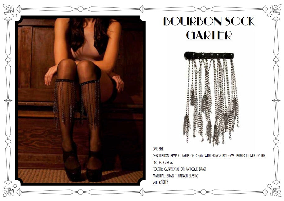Bourbon Sock Garters by LITTER