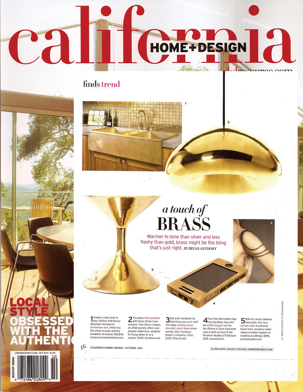 California Home + Design Magazine excerpt