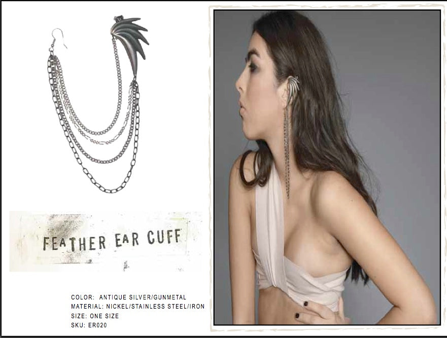 Feather Ear Cuff by LITTER